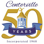 City of Centerville 50 Years Logo